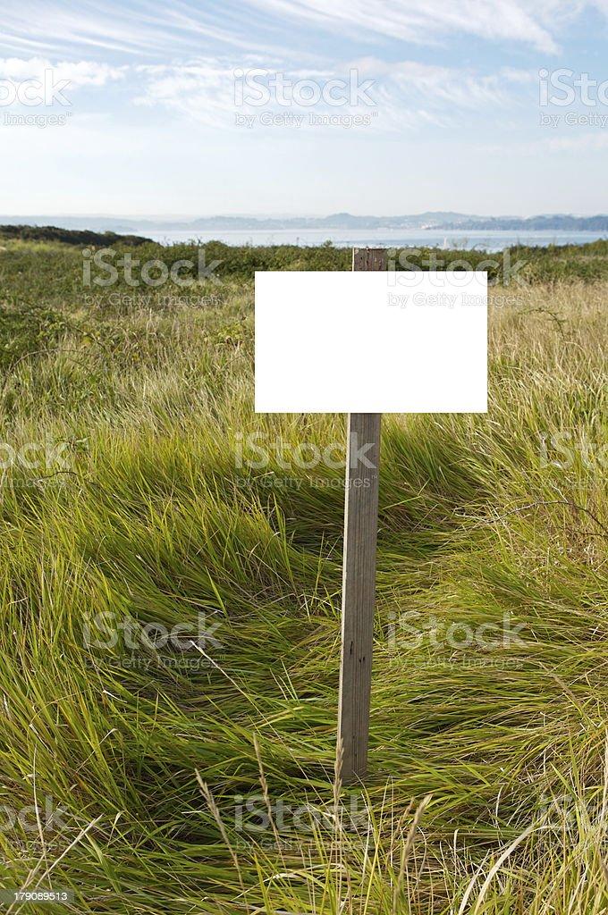 Billboard in the field royalty-free stock photo