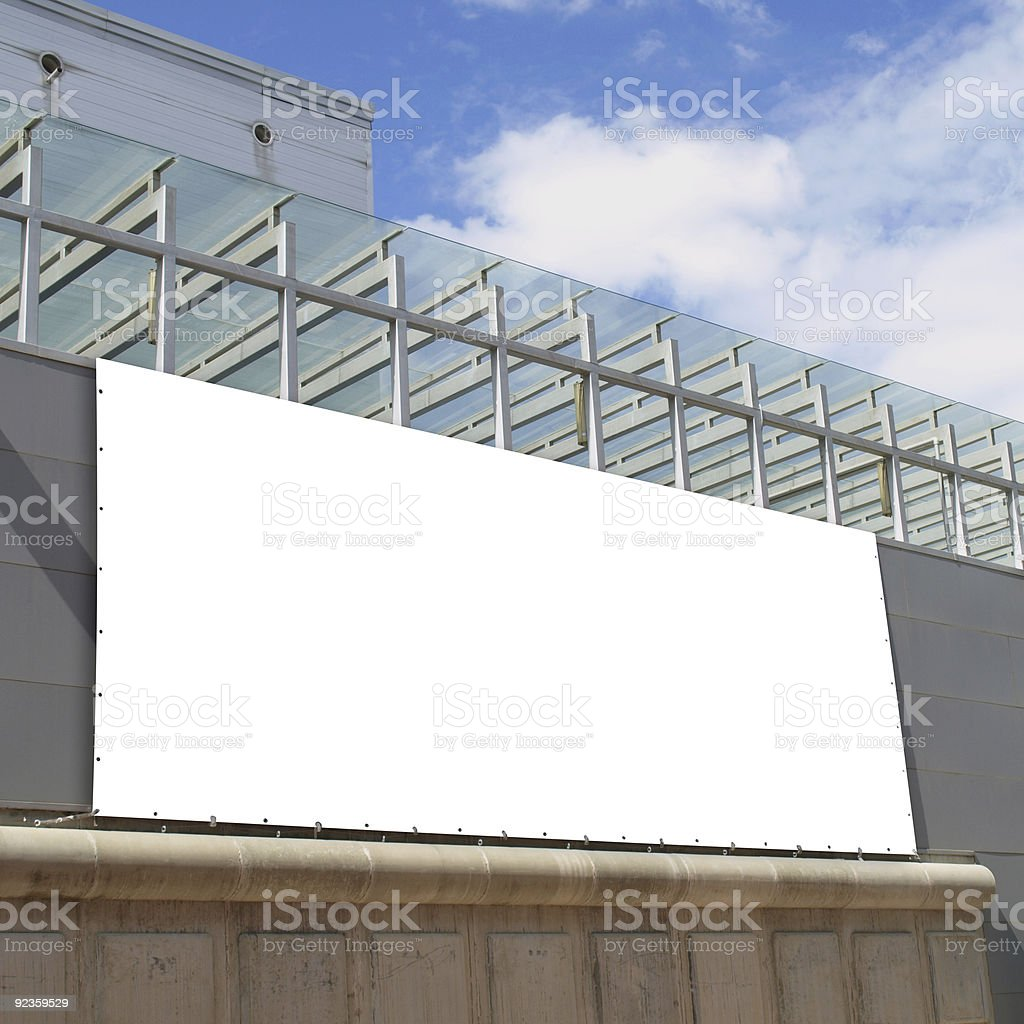Billboard on a Trade Fair royalty-free stock photo