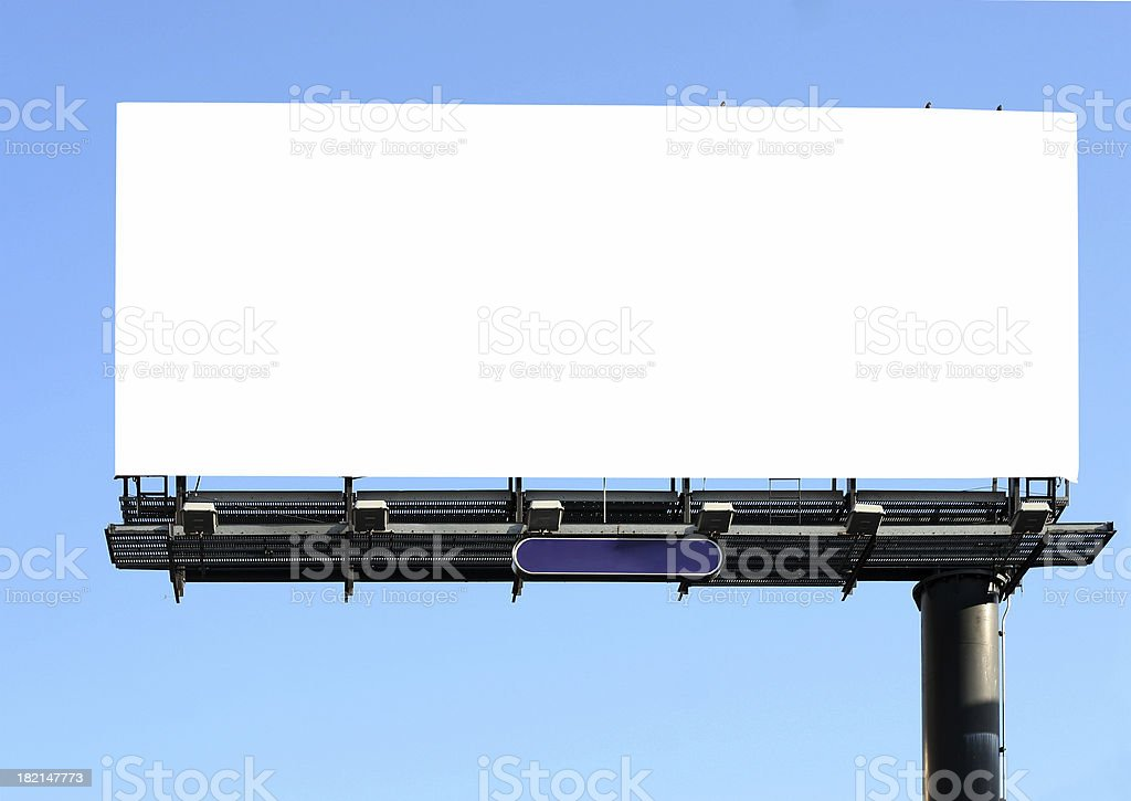 billboard on blue royalty-free stock photo