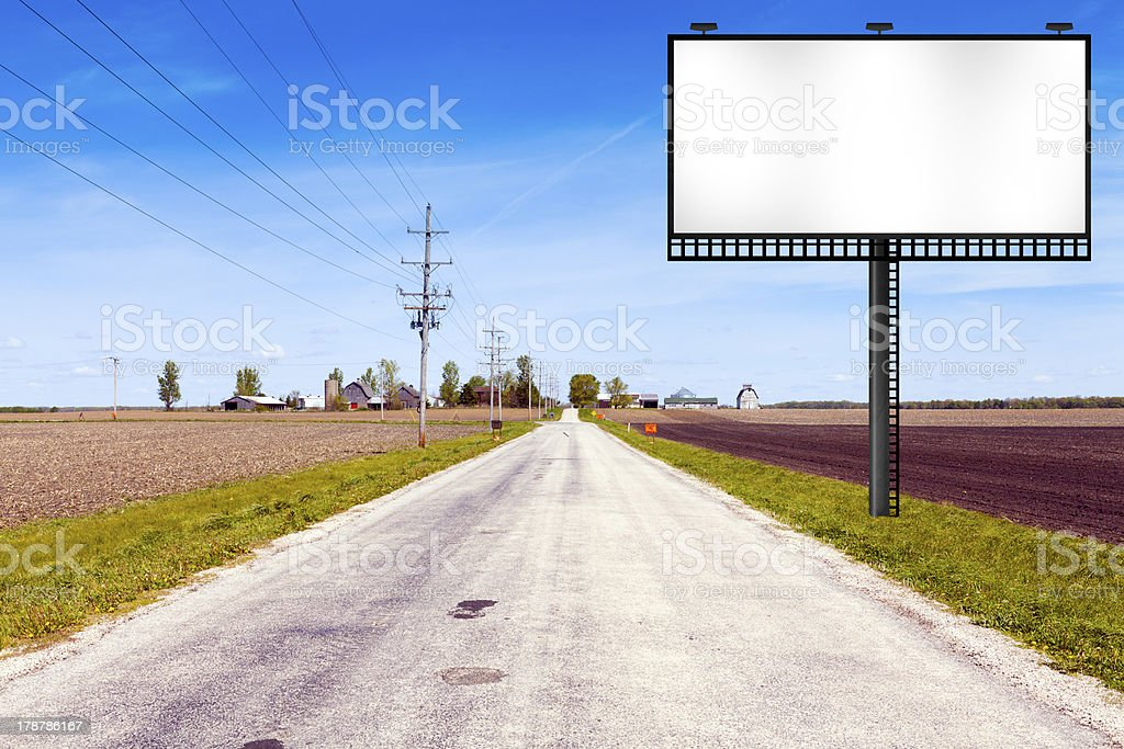 Billboard on Country Road royalty-free stock photo