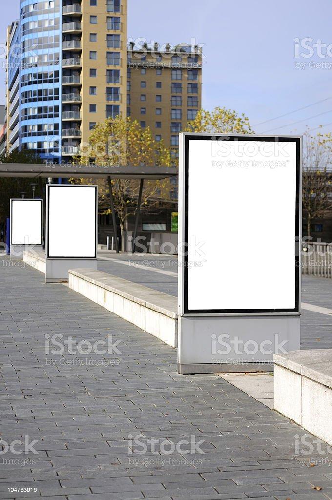 Billboard on the street royalty-free stock photo