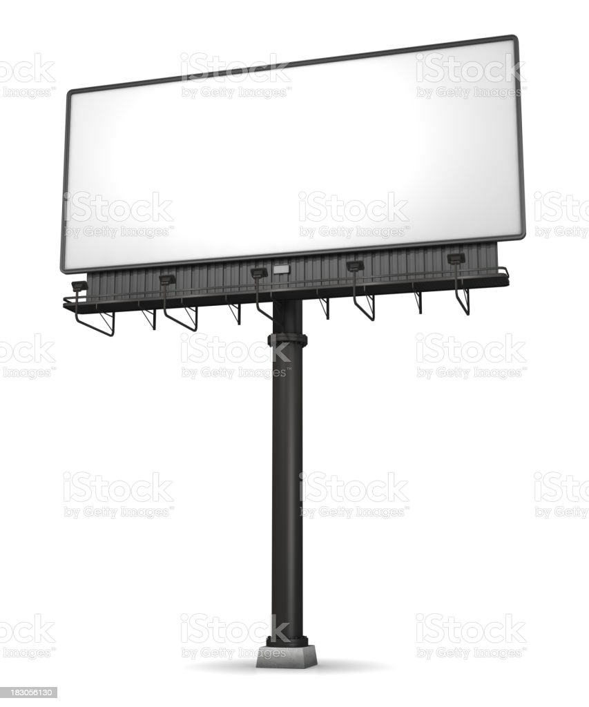 Billboard On White stock photo