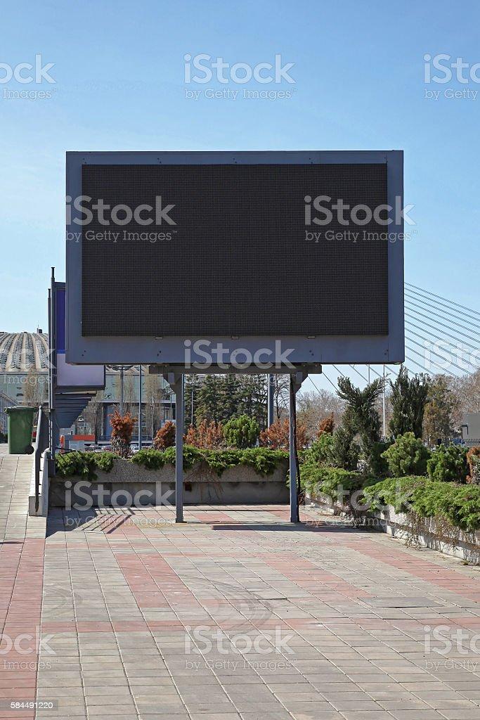 LED Billboard stock photo
