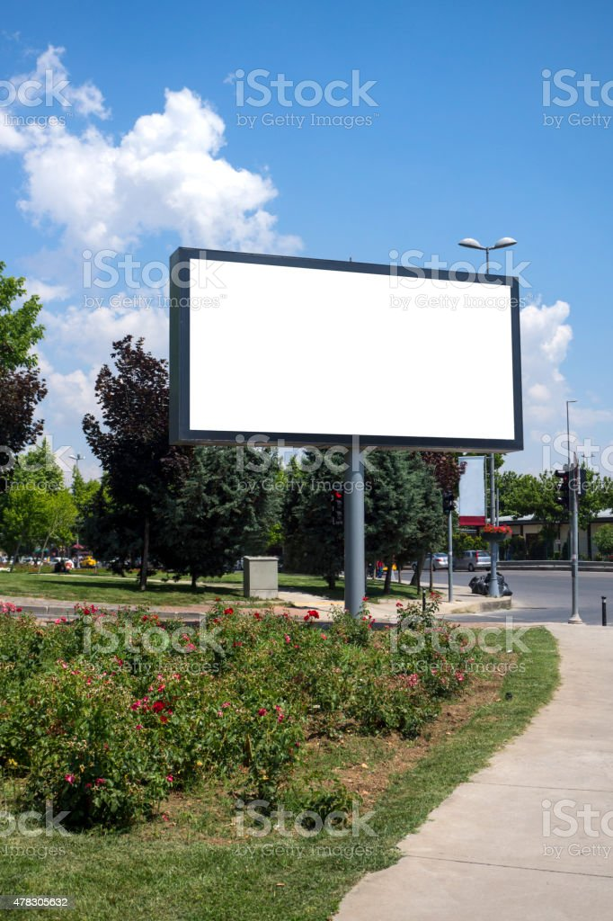 Billboard Series stock photo