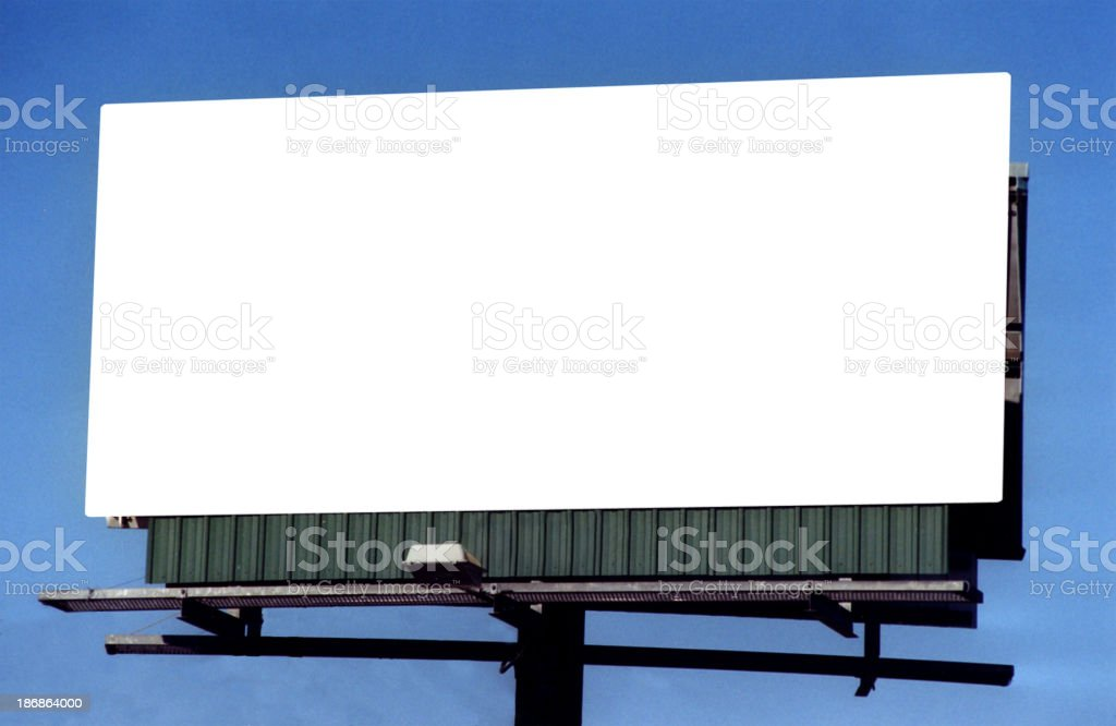 Billboard Sign Structure 24' stock photo