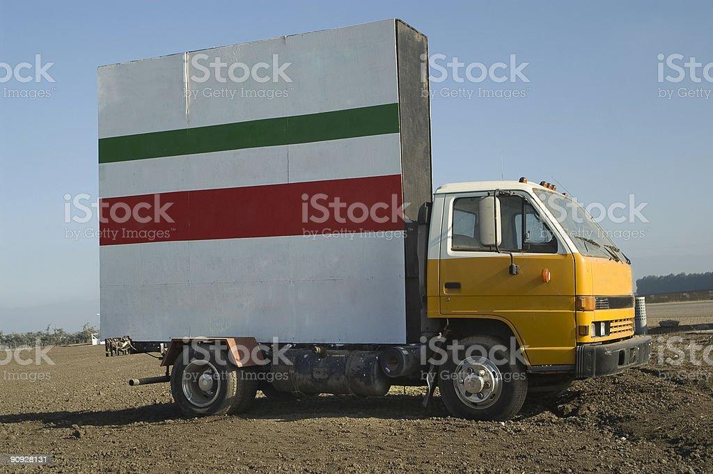 Billboard Truck royalty-free stock photo
