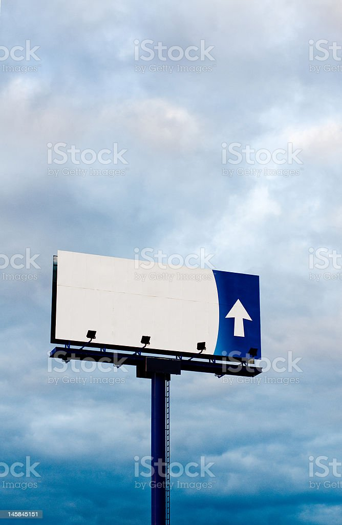 Billboard under a cloudy sky royalty-free stock photo