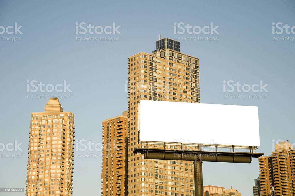 Billboard with City Scape royalty-free stock photo