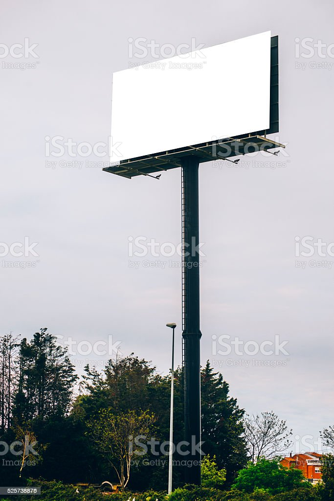 Billboard with copy space stock photo