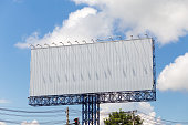 Billboard with empty and blue sky