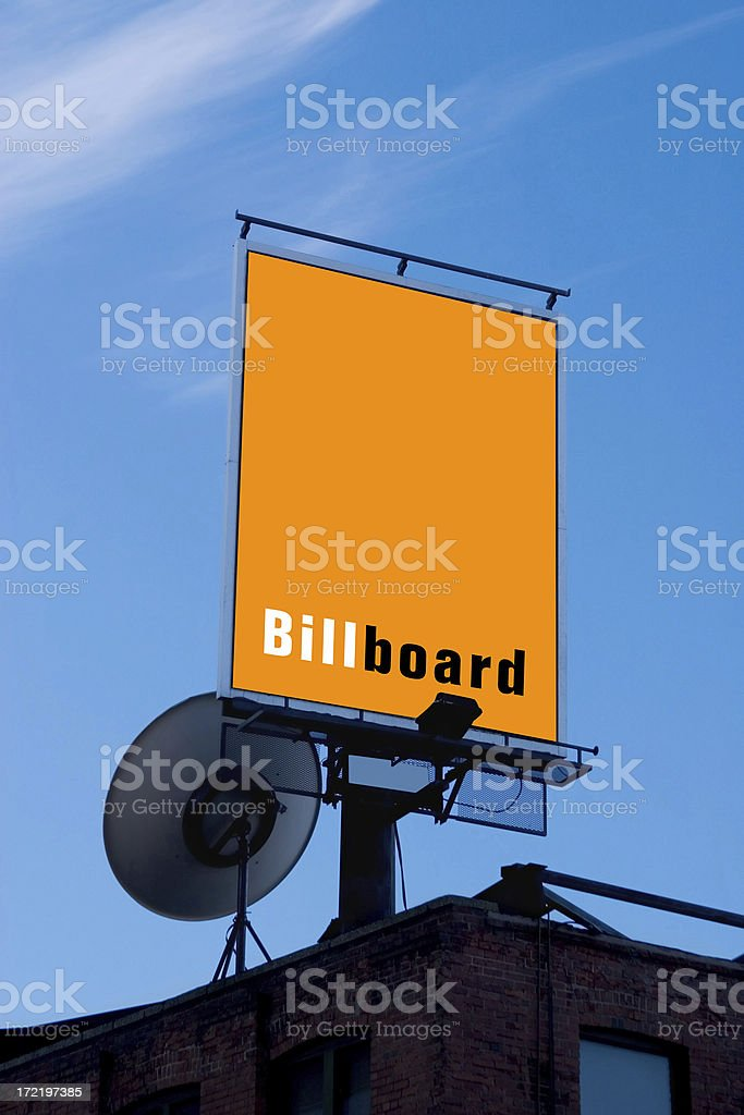Billboard with Satellite royalty-free stock photo