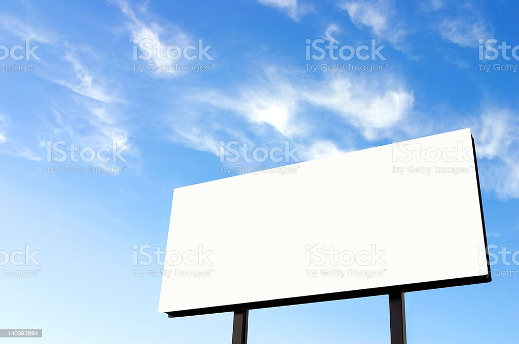Billboard with wispy sky updated royalty-free stock photo