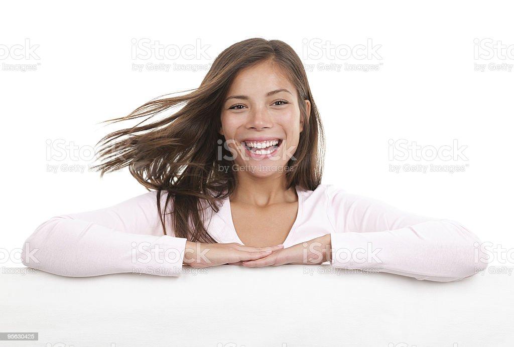 Billboard woman royalty-free stock photo