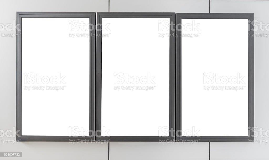 Billboards display stock photo