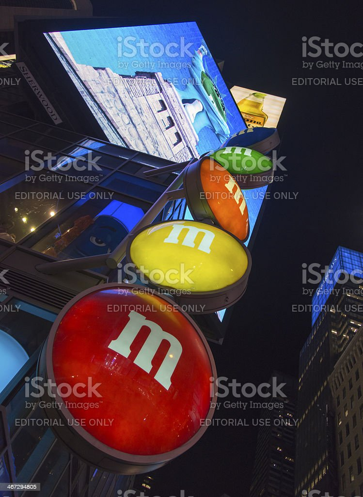 Billboards of Times Square royalty-free stock photo