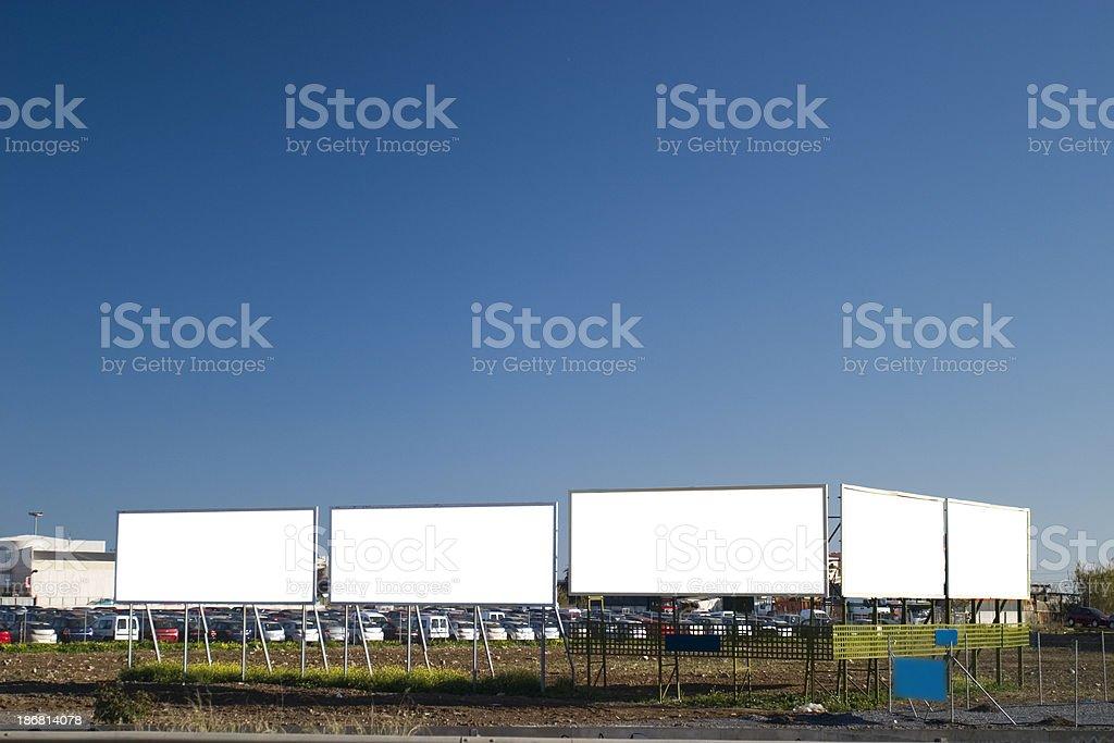 Billboards royalty-free stock photo
