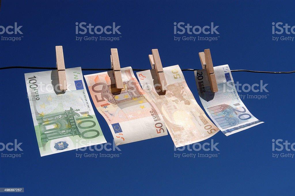 Billetes, euros, dinero stock photo