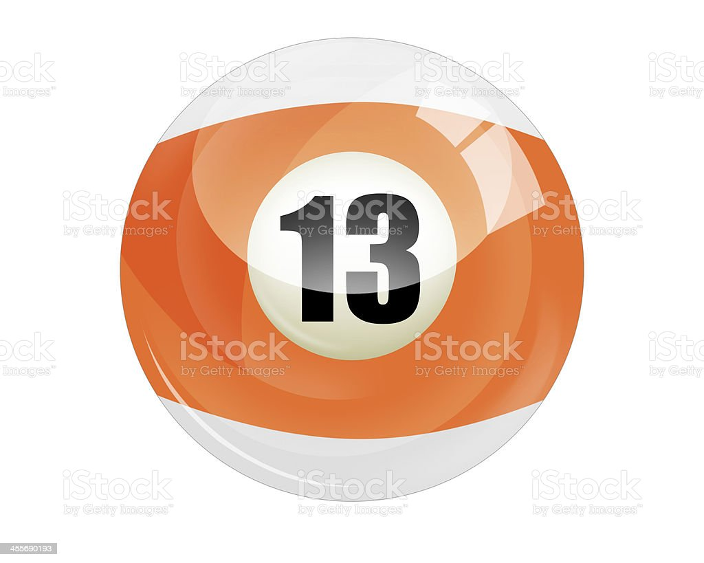 Billiard ball number 13 royalty-free stock photo