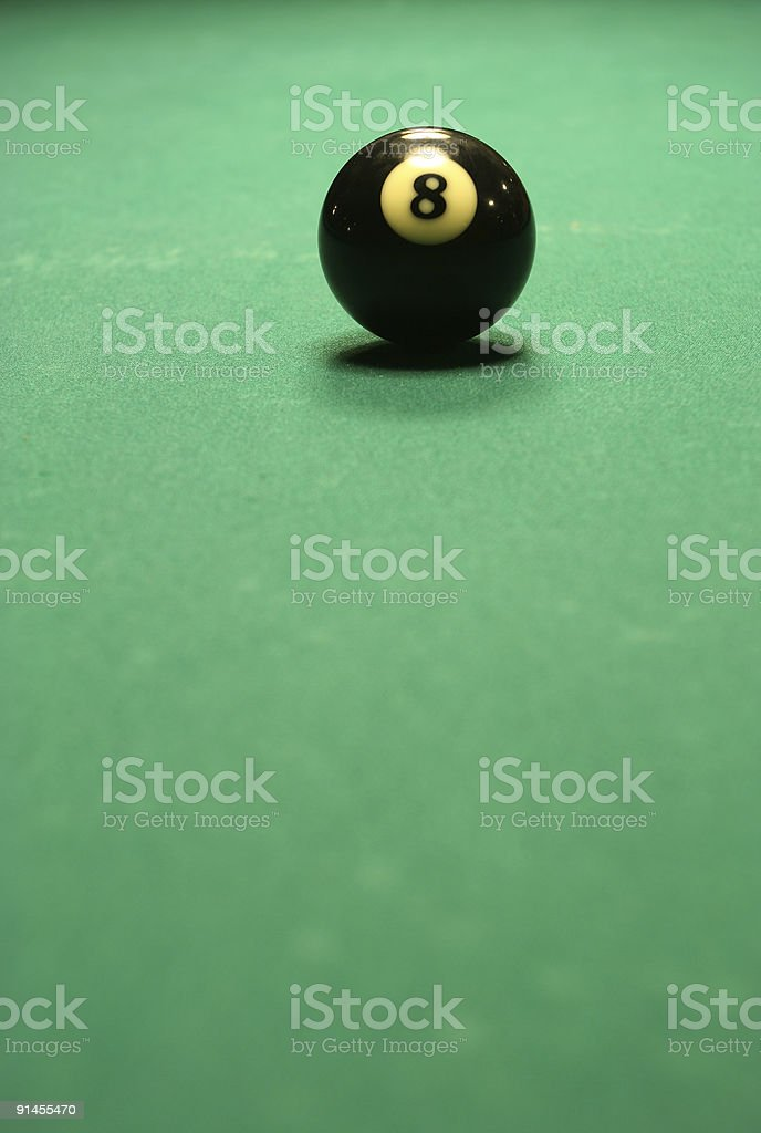 Billiard ball on the table stock photo