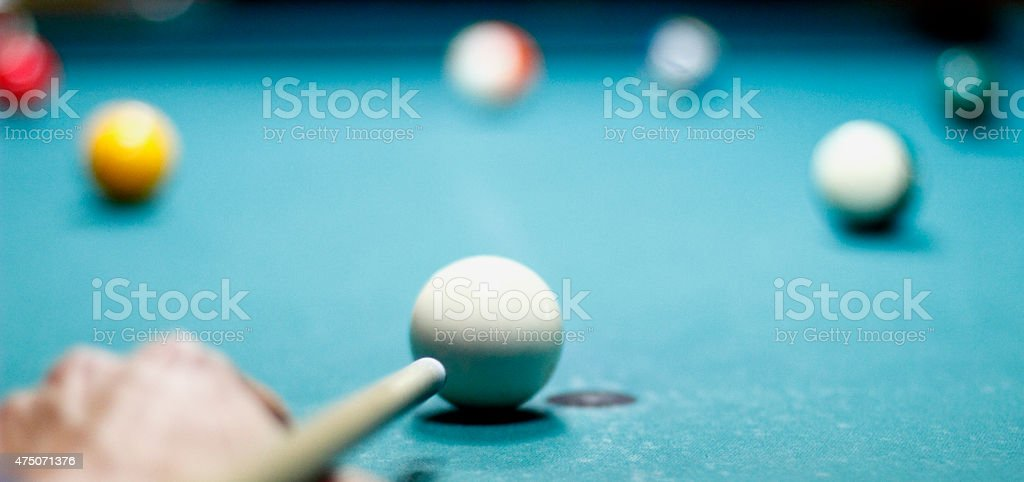 Billiard balls on the table stock photo