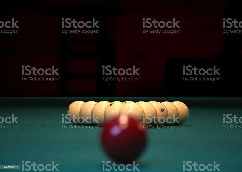 Billiard balls royalty-free stock photo