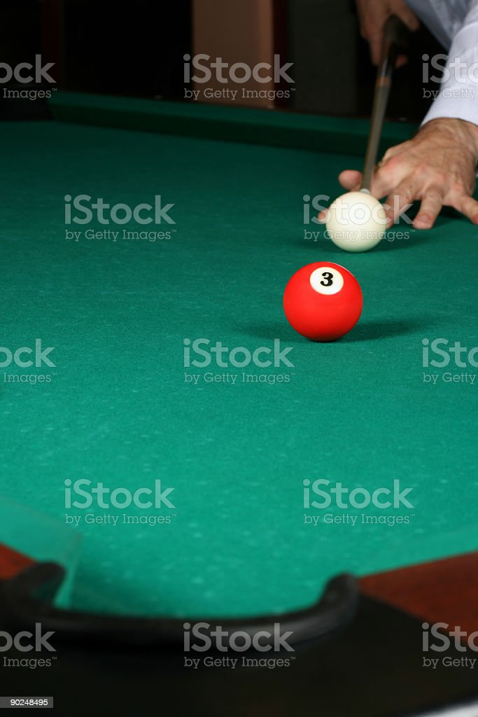 Billiard game details royalty-free stock photo