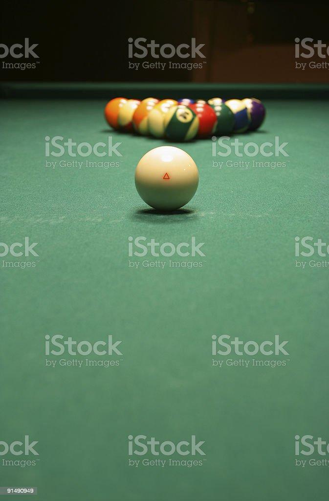 Billiard game details royalty-free stock photo