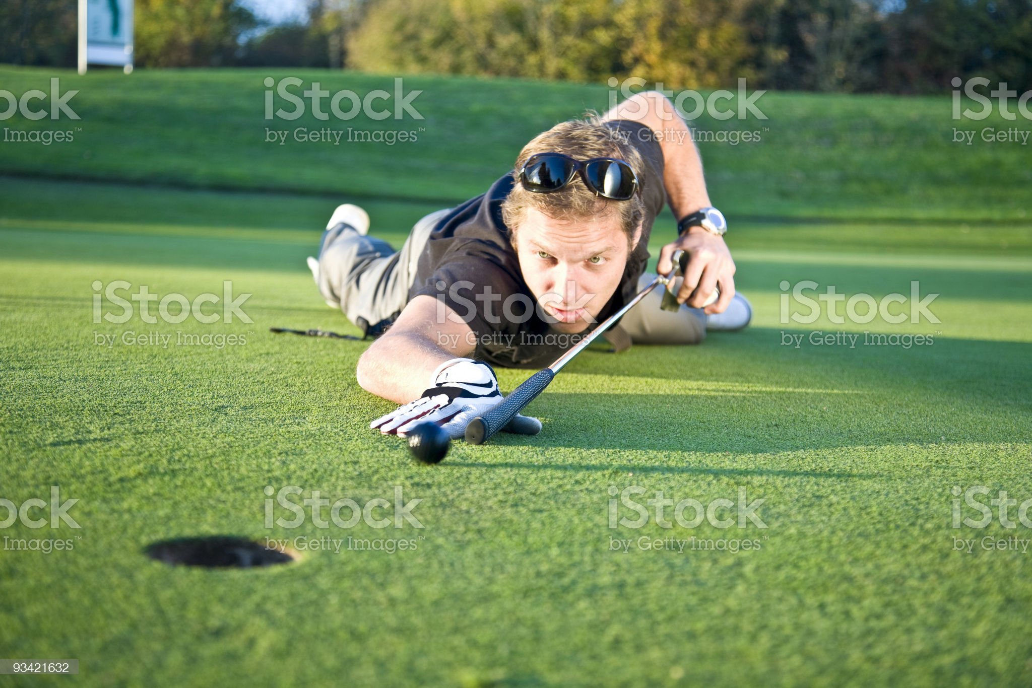 billiard golf royalty-free stock photo