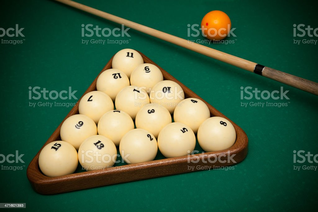 Billiard royalty-free stock photo