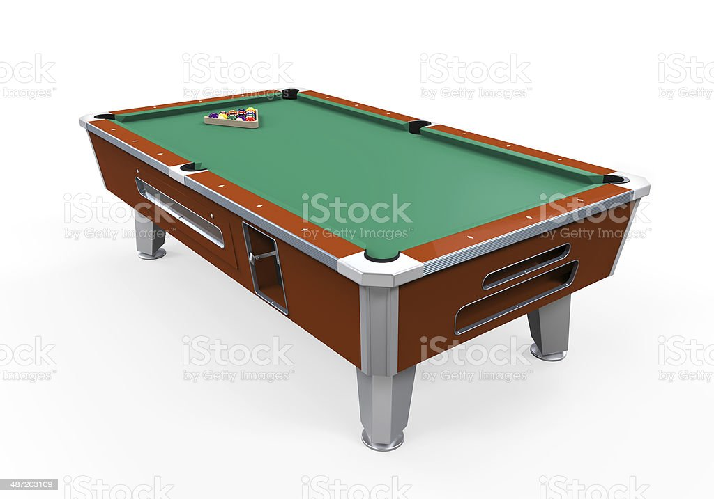 Billiard Table Isolated stock photo