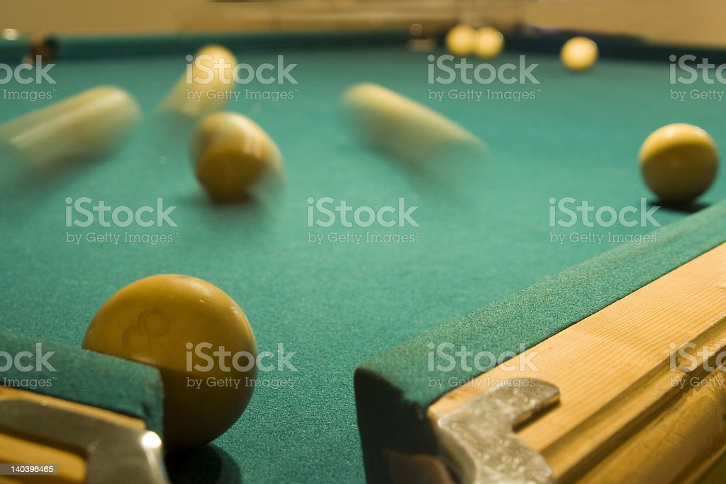 Billiard table stock photo