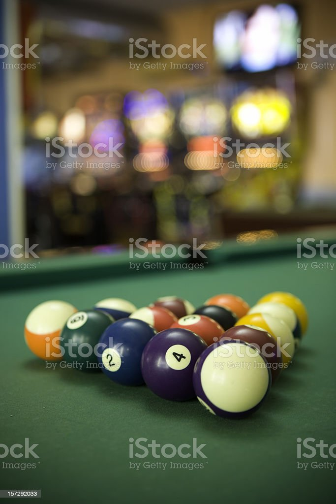 Billard table stock photo