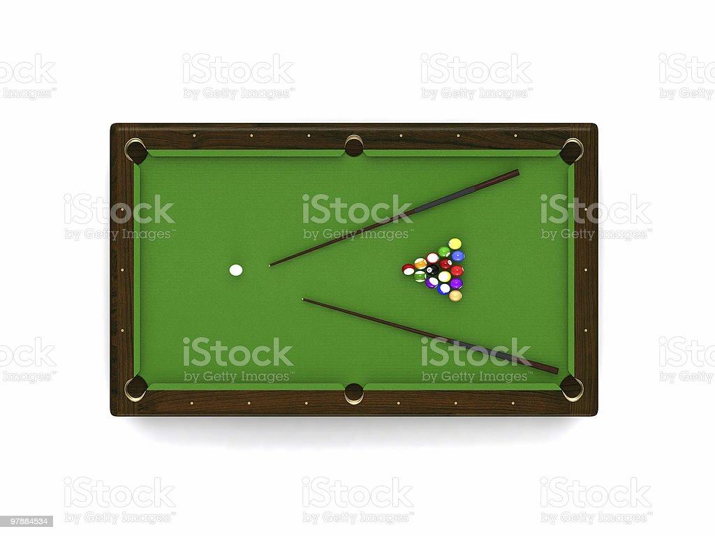 billiard table stock photo