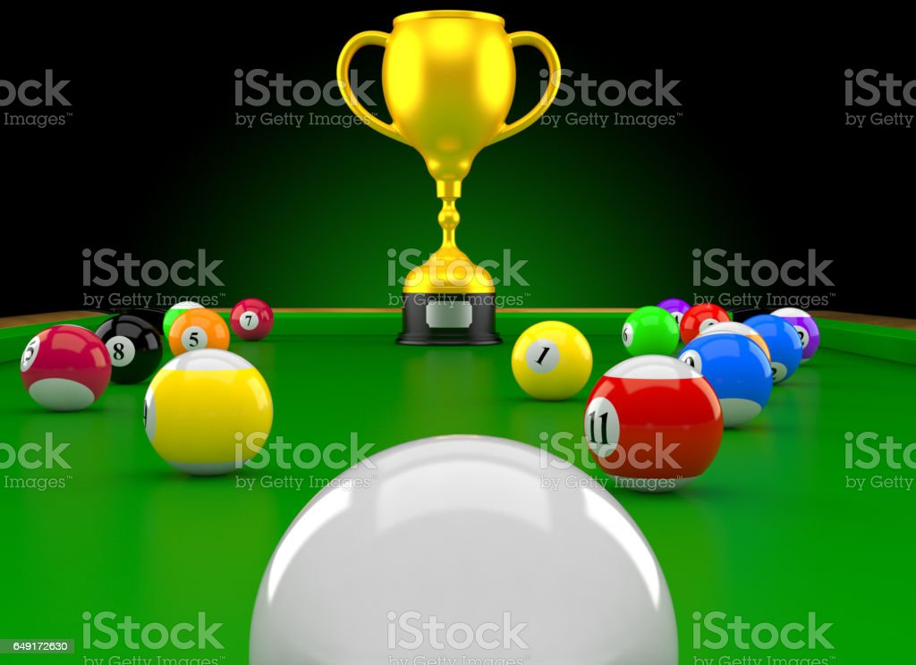 Billiard trophy stock photo