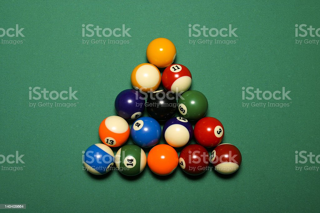 billiards (pool) balls royalty-free stock photo