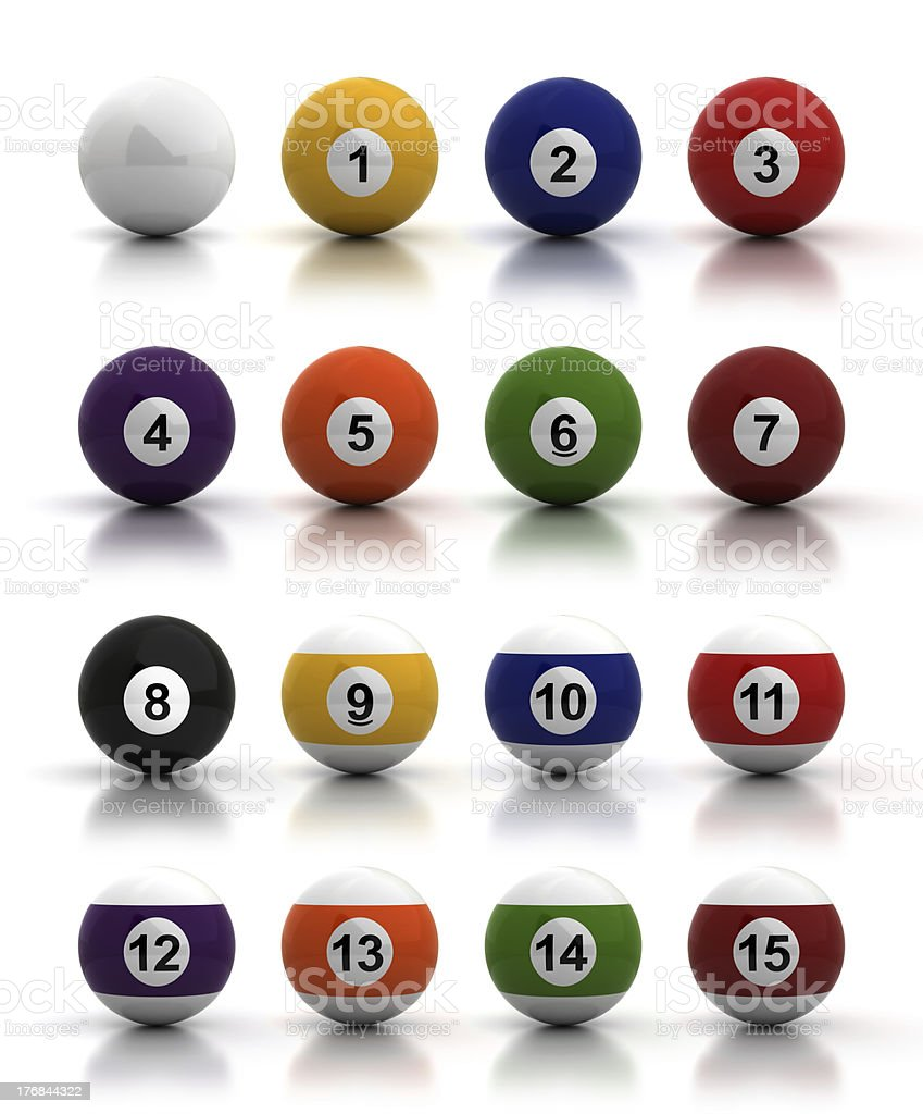 Billiards Balls stock photo