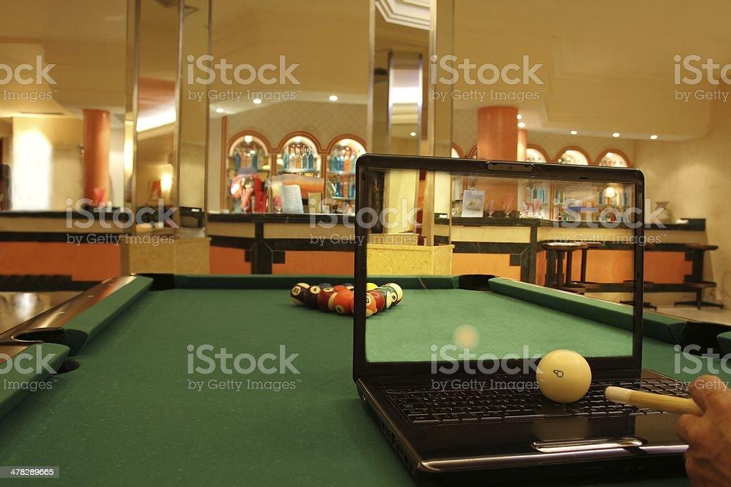 Billiards on the Internet royalty-free stock photo