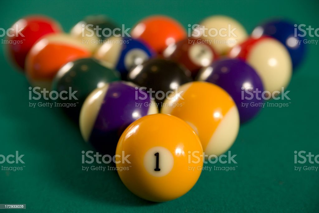 Billiards or pool balls. stock photo