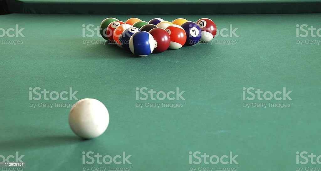Billiards royalty-free stock photo