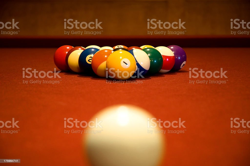 Billiards royalty-free stock photo