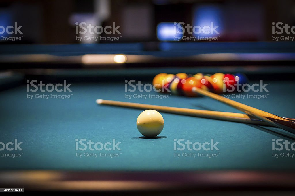 Billiards (???????) stock photo