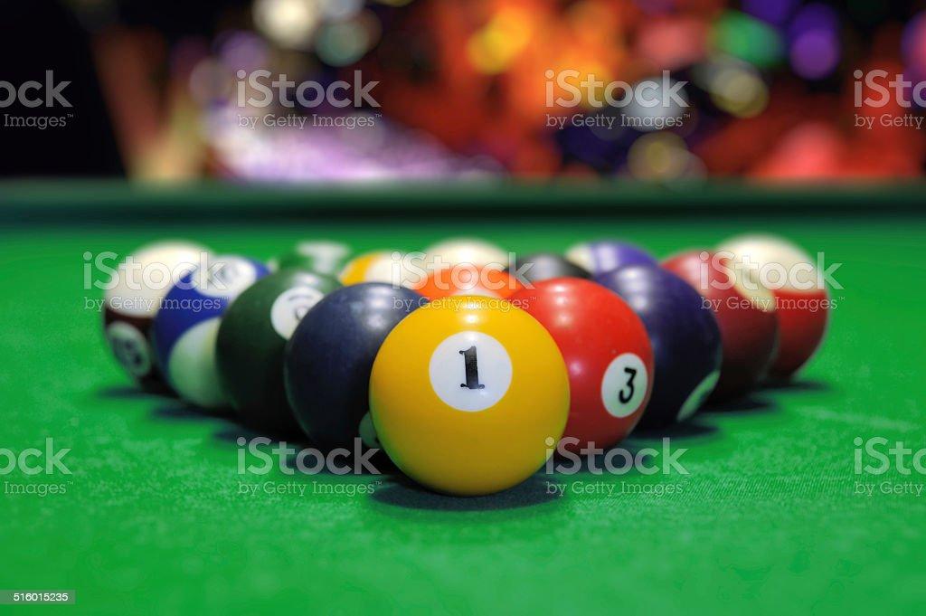 Billiards stock photo