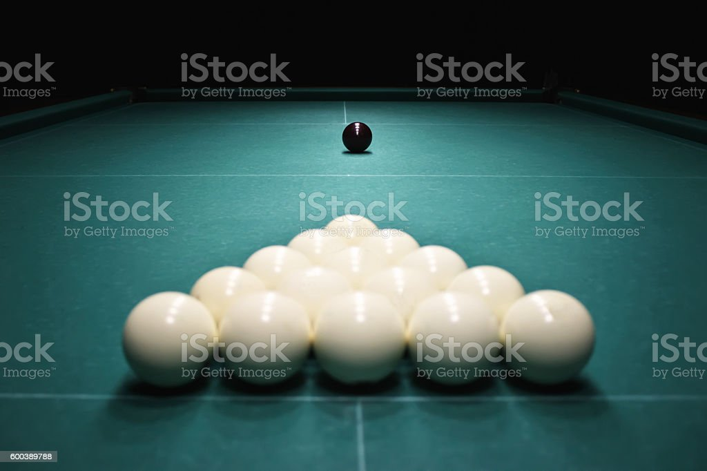 Billiards. stock photo