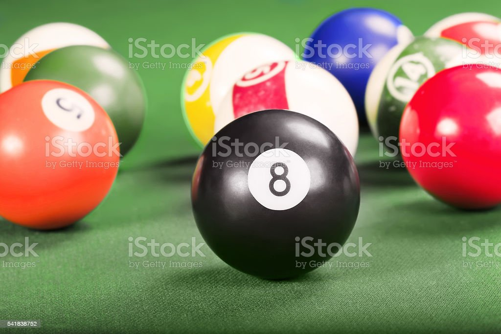 Billiards. Pool game. stock photo