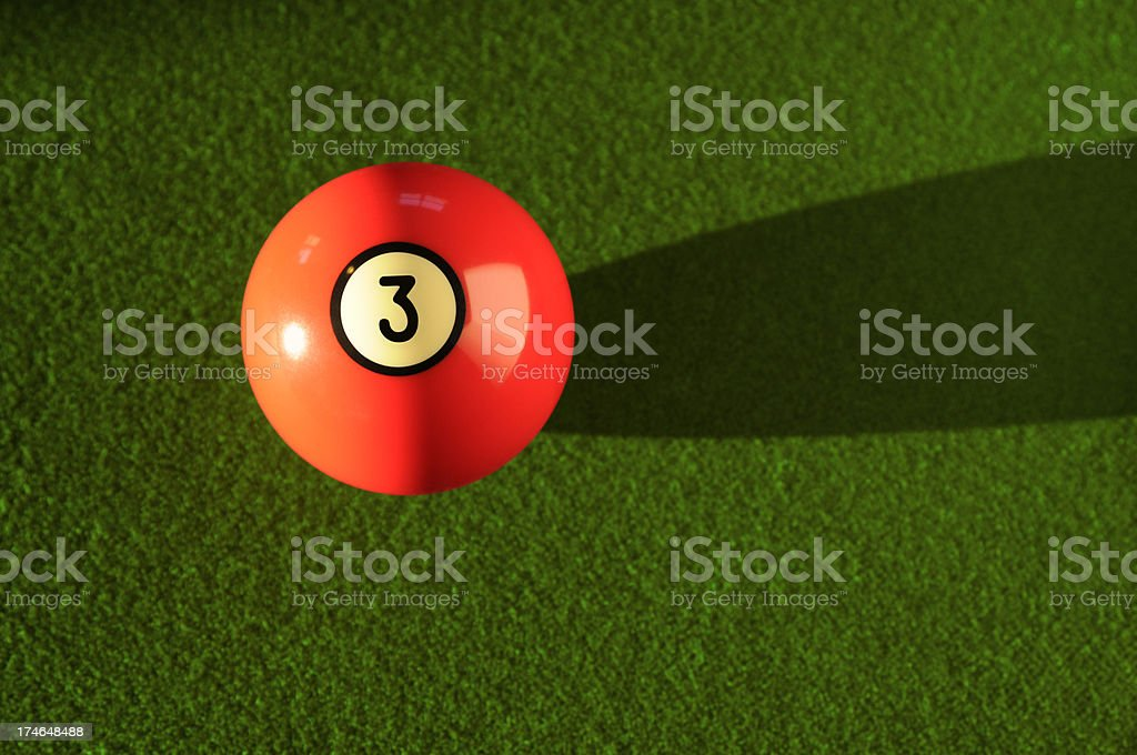 Billiards Pool Three Ball royalty-free stock photo