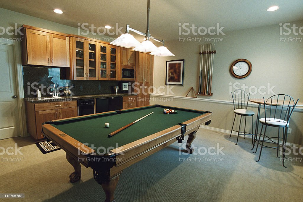 Billiards Room royalty-free stock photo