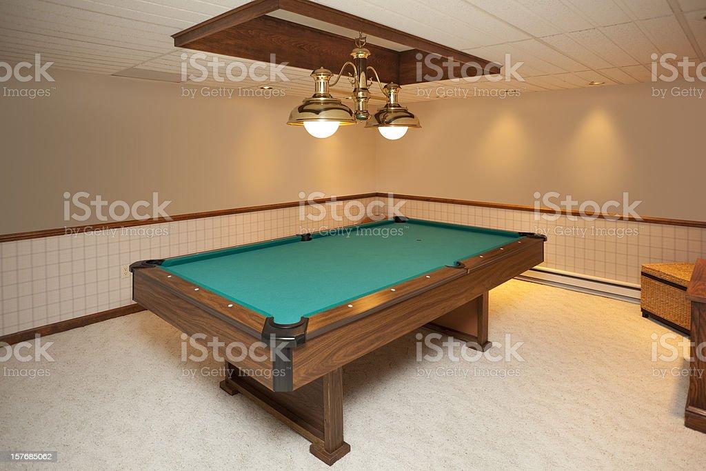 Billiards Room With Custom Lighting royalty-free stock photo