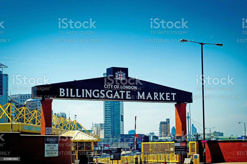Billingsgate Fish Market stock photo