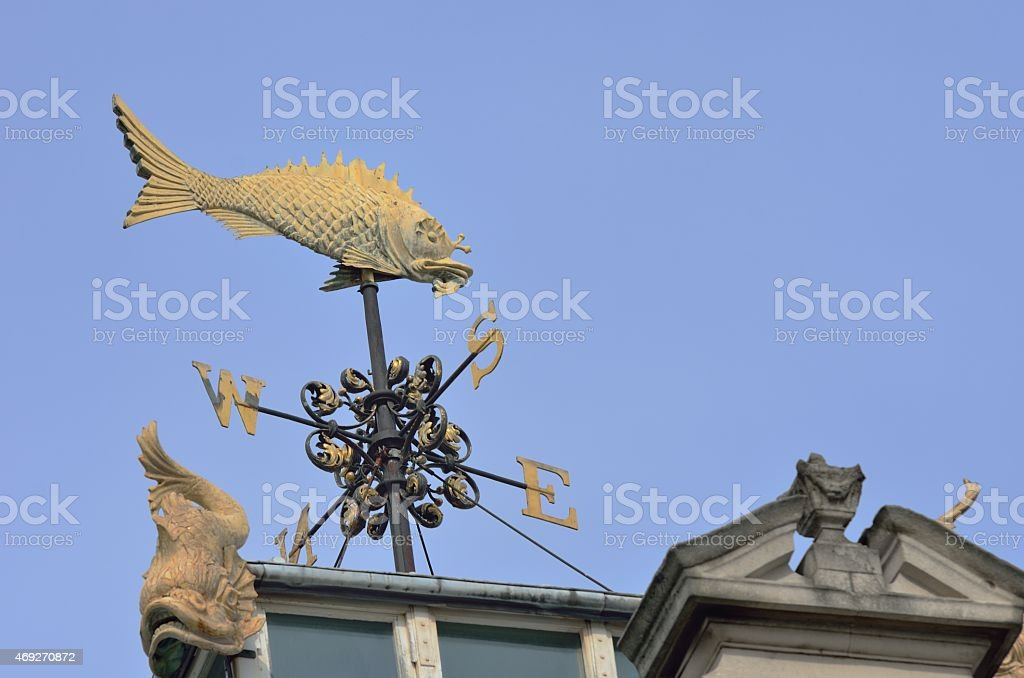 Billingsgate Fish weather vane stock photo