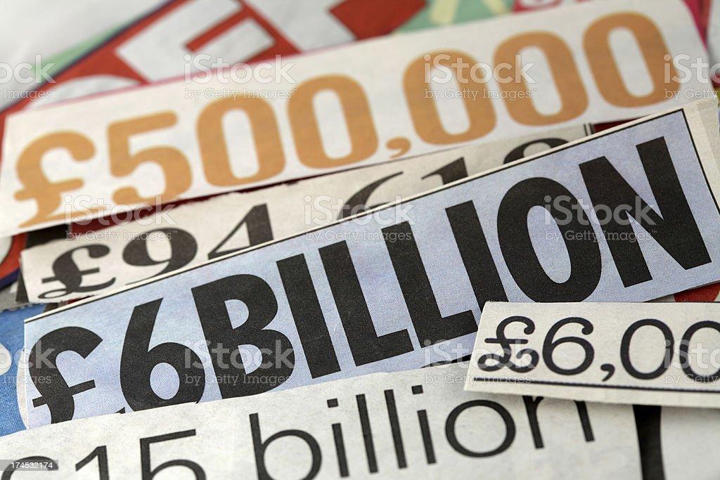 Billions royalty-free stock photo